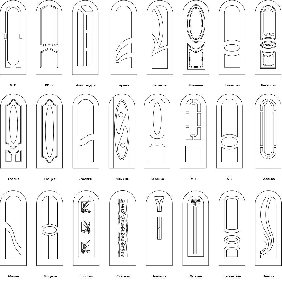 Варианты арочных дверей