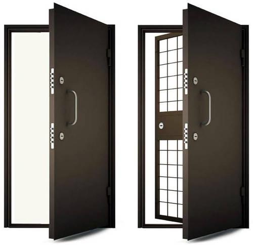 Дверь стальная  с броне решеткой