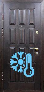 двери в дом шпон +термо утепленная