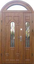железная дверь стеклопакет+арка