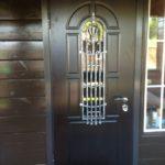дверь мдф+ковка+ стеклопакет нашего производства