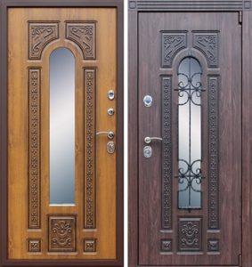 железные двери +с ковкой