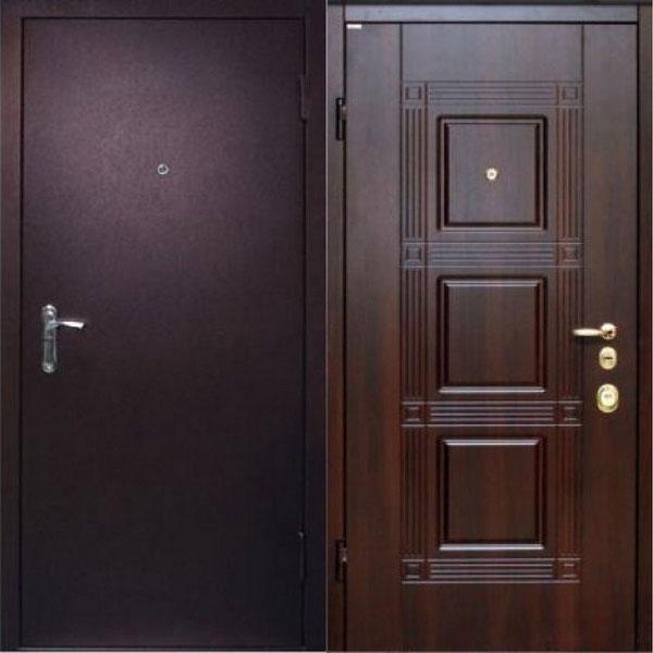 стальная дверь в квартиру мдф