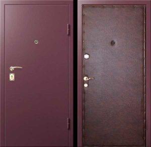 порошковая дверь +обивка