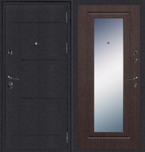металлические двери зеркальные