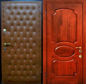 входная дверь дермантин+мдф