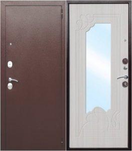стальные двери мдф с зеркалом