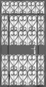 решетчатые двери на площадку