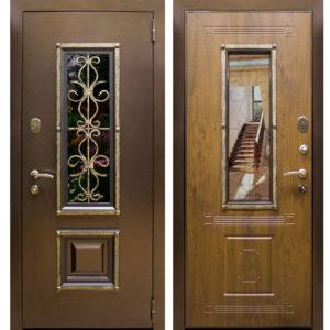 дверь в порошке+Мдф со стеклом