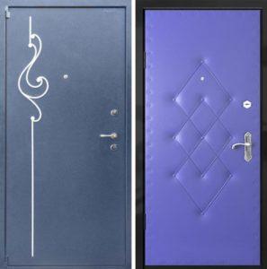 двери металлические порошок+винил