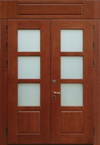 входные двери со стеклом +для загородного дома