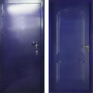 дверь входная в порошке синяя