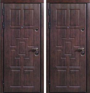 дверь стальная с панелями Мдф