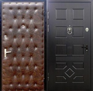 металлическая дверь в обивке винилискожа
