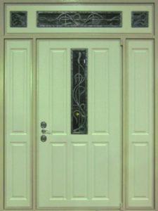 входные двери +в дом стеклом купить
