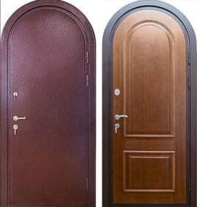 двери арочные в порошке с мдф