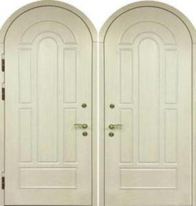 парадная дверь с аркой с мдф панелями