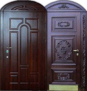арочные резные двери под заказ