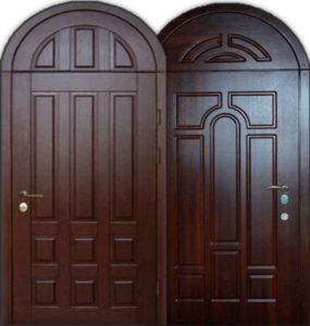 стальная дверь с аркой шпон, Мдф