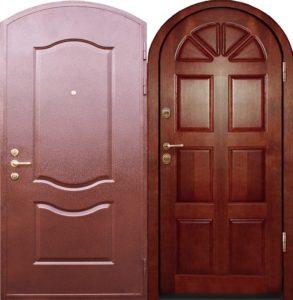 входные металлические арочные двери