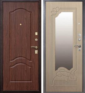 двери в мдф зеркальные под заказ