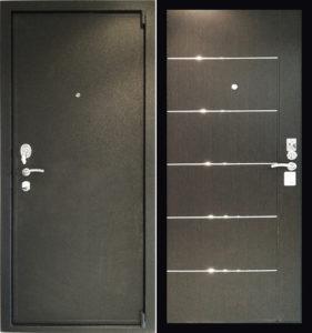 двери стальные с молдингом