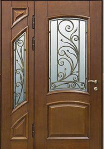 стальные двери со стеклом +для загородного дома
