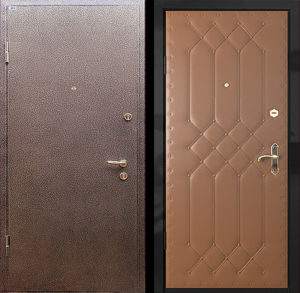 дверь входная эконом в порошке