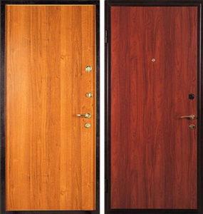 заводская дверь ламинат