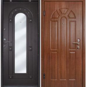 двери входные с панелями мдф+зеркало