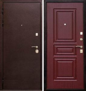 дверь металлическая с резьбой