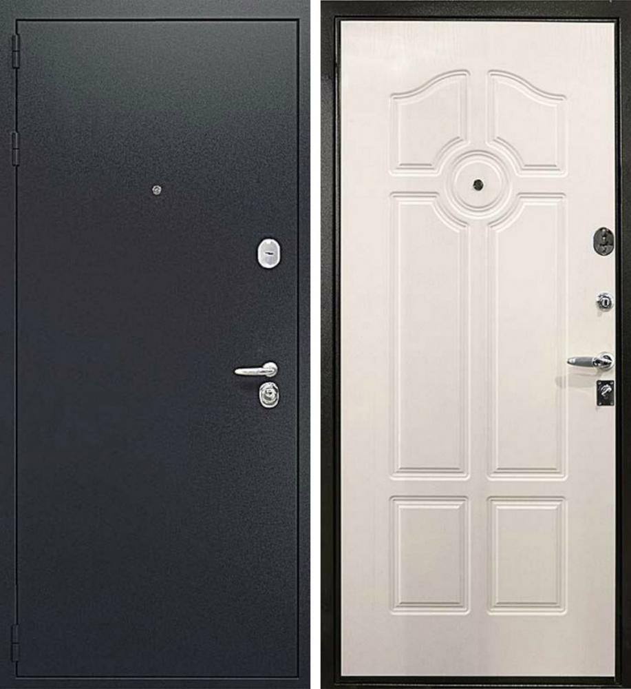 дверь входная мдф белый