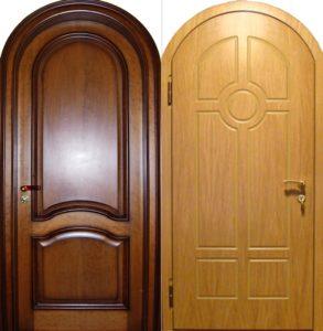 металлическая арочная дверь в Мдф купить