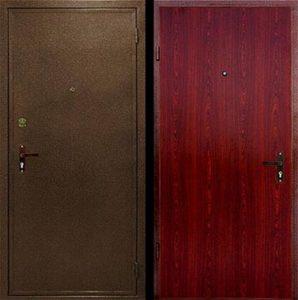 железные двери ламинат