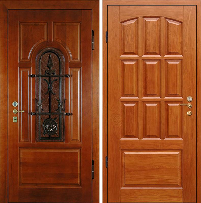 дверь мдф со стеклопакетом и ковкой