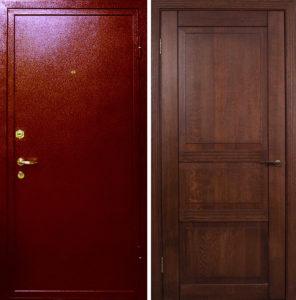 металлические двери порошок+ мдф