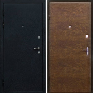 железные двери с обивкой винил