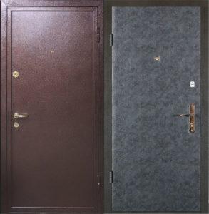 стальные двери в порошке+дермантин