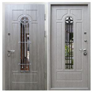 двери стальные в шпоне со стеклом