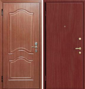 дверь металлическая мдф +ламинат