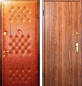 металлическая дверь с отделкой ламинат