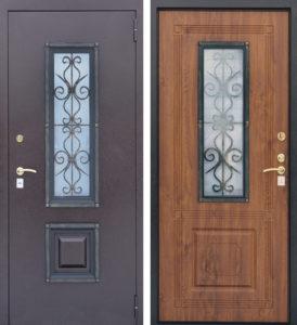 металличесие двери со стеклом под заказ