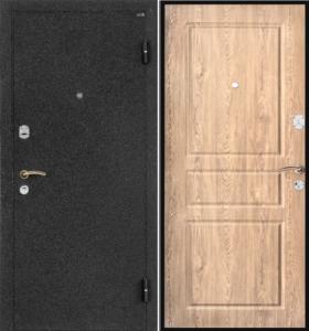 дверь мталлическая в порошке с панелью