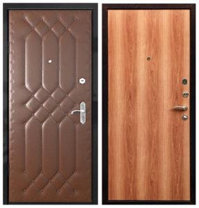 дверь входная эконом установкой