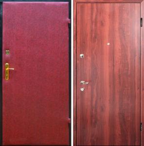 двери входные в ламинате с обивкой винил