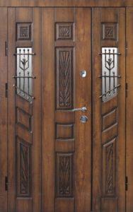 двери двухсторчатые со стеклопакетом от производителя