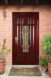 дверь входная металлическая мдф с ковкой