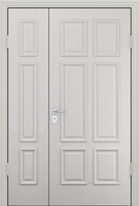 белая дверь мдф двухстворчатая