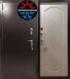 дверь на улицу с панелями мдф +терморазрыв под заказ