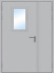 технически двери в покрасе со стеклопакетом